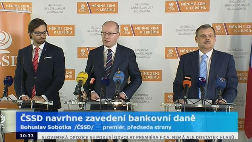 Video Brífink ČSSD k představení návrhů daňových změn