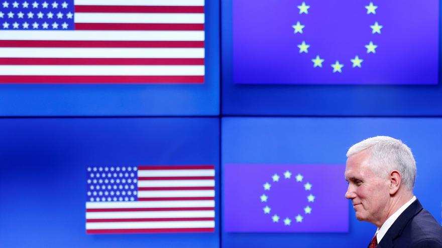 Thumbnail for Pence v Bruselu: Rusko se snaží přepsat hranice, musí plnit minské dohody