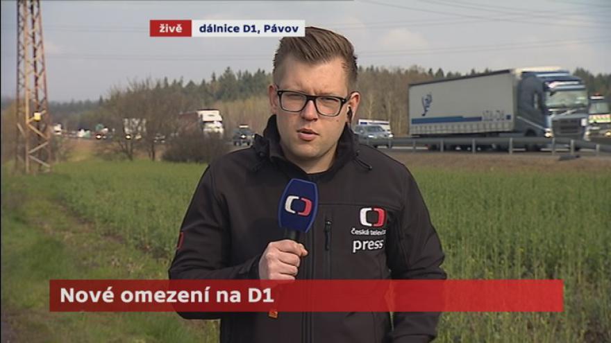 Video Na D1 mezi Pávovem a Velkým Beranovem čeká řidiče zdržení