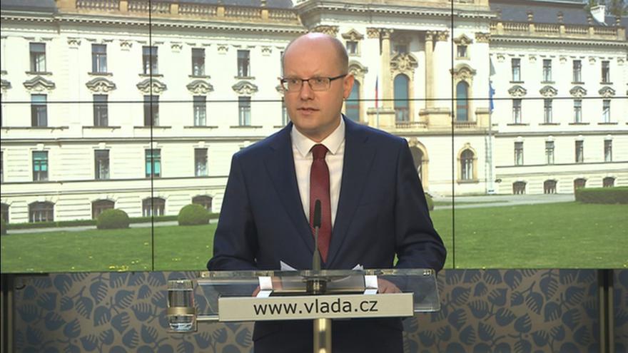 Video Brífink premiéra po jednání grémia ČSSD