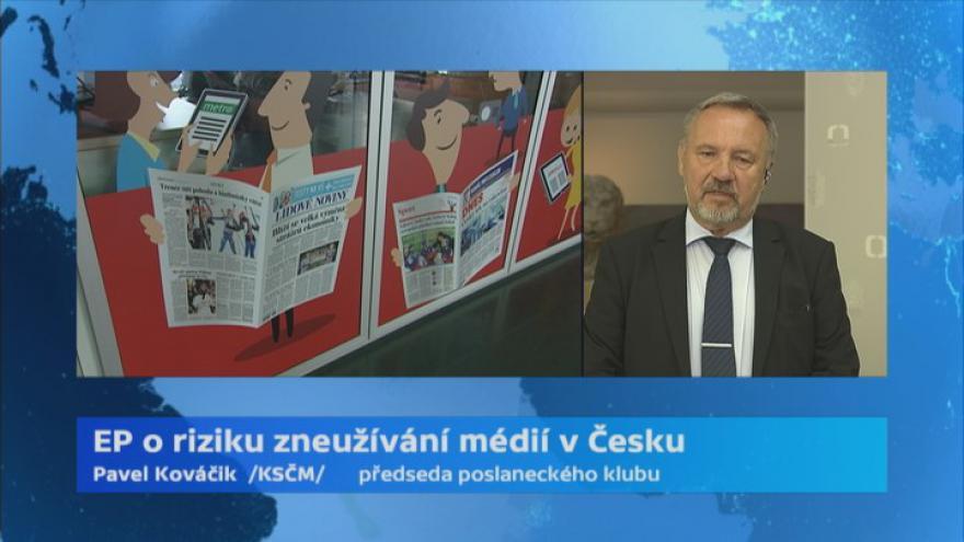 Video Názory českých poslanců na debatu v EP o politickém zneužívání médií v Česku