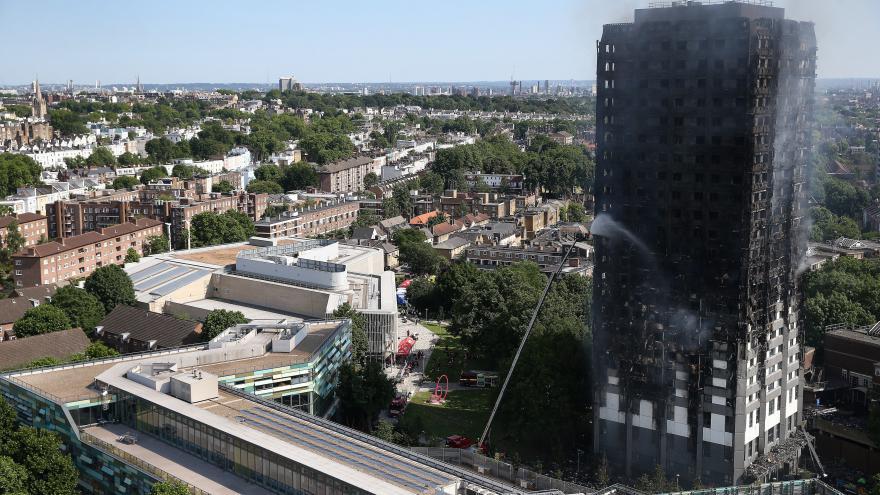 Video Události o požáru výškové budovy v Londýně