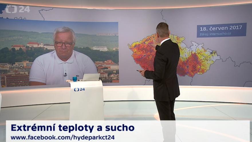 Video 90' ČT24 - Extrémní teploty a sucho