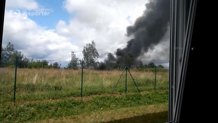 Video iReportér Vláďa Řehák: Výbuch skladu plynu v Plané u Mariánských lázní