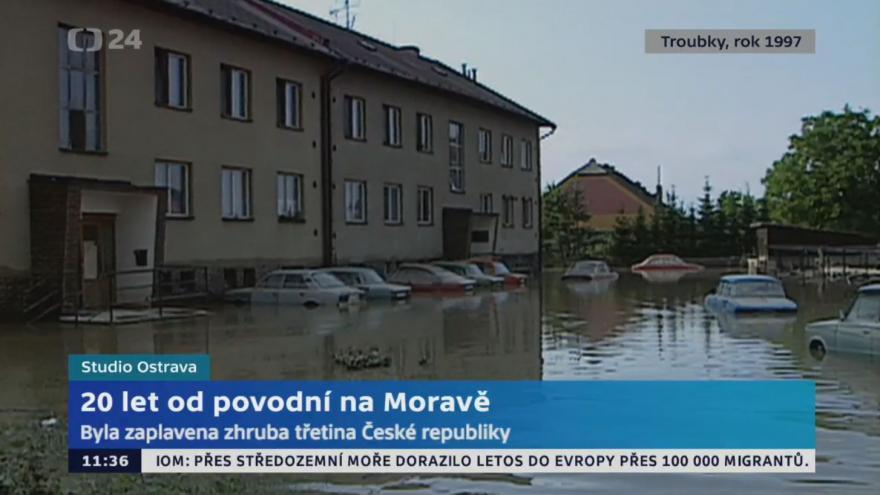 Video Ostravské studio: Povodně v Troubkách