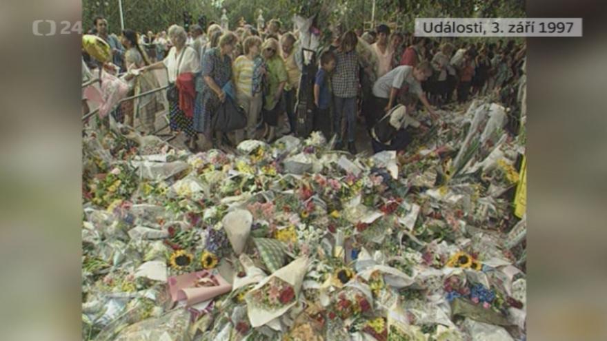 Video Události z 3. září 1997 k úmrtí princezny Diany