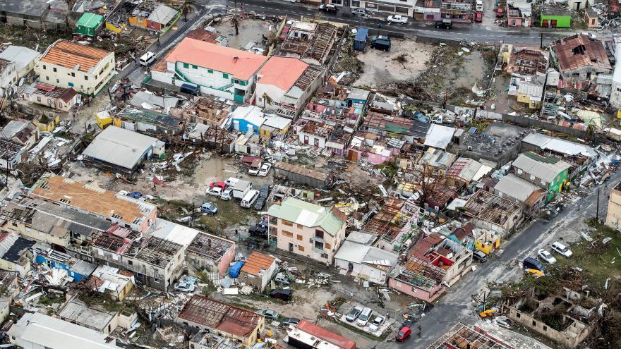 Video Ostrov Svatý Martin po zasažení hurikánem Irma