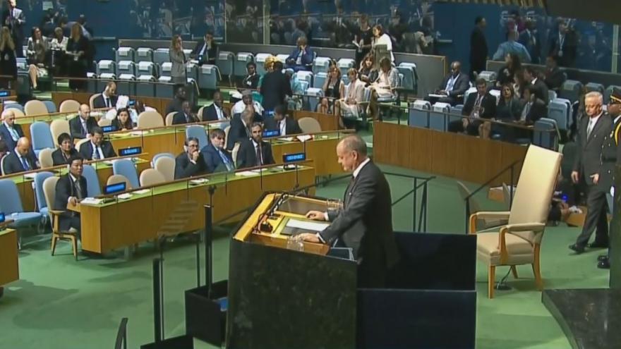 Video Slovenský prezident Kiska na 72. zasedání Valného shromáždění OSN
