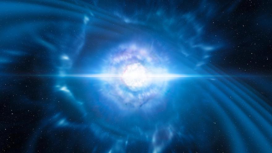 Video Animace: splynutím dvou neutronových hvězd vznikla kilonova