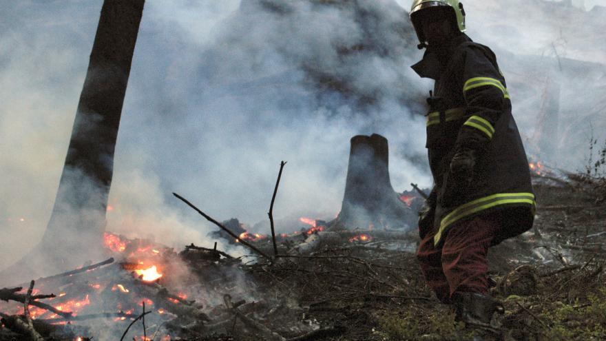 Video Bez komentáře: Požár lesa na Rakovnicku