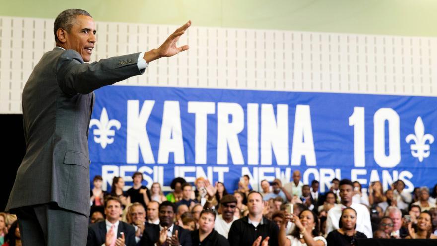 Video Obama pochválil New Orleans za pokrok