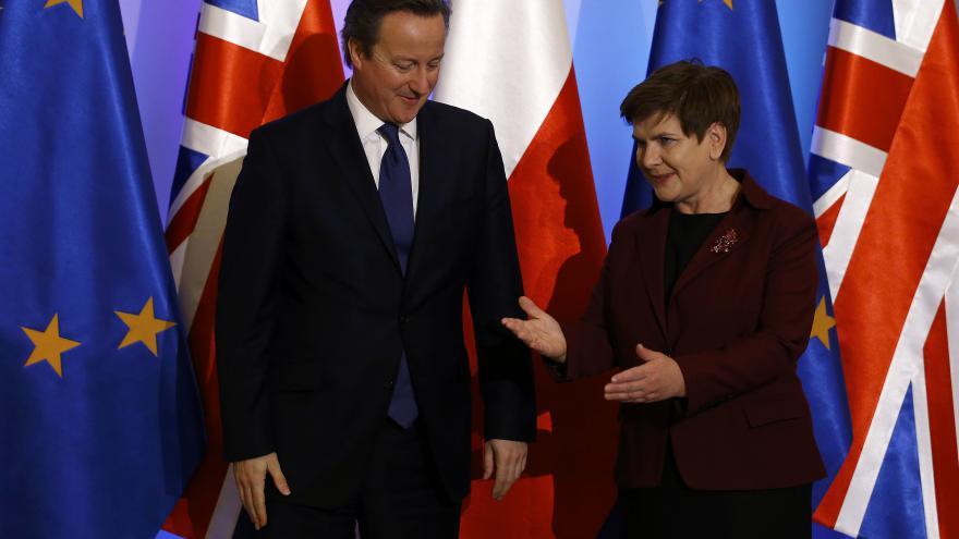 Video David Cameron na návštěvě Polska