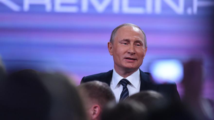 Video Brífink ruského prezidenta Putina