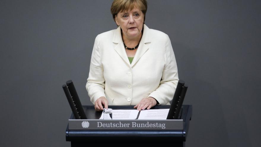 Video Vystoupení Angely Merkelové v německém parlamentu