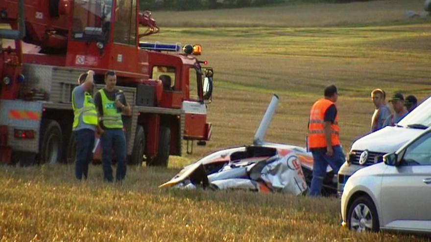 Video Pád vrtulníku na severním Plzeňsku