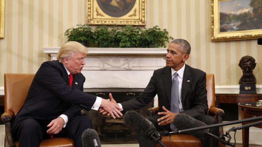 Video Setkání prezidentů Obamy a Trumpa
