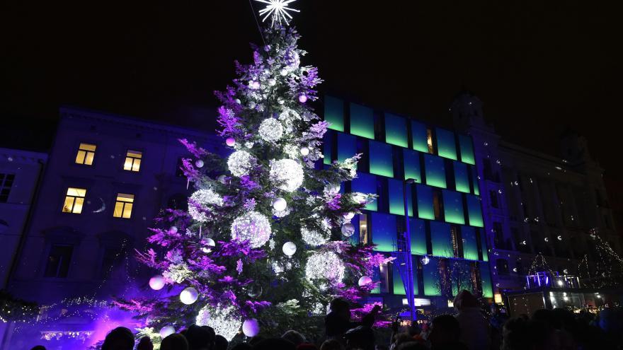 Video Bez komentáře: V Brně se rozsvítil vánoční strom