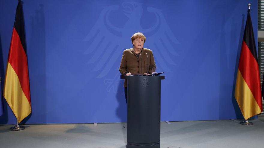 Video Merkelová k dopadení berlínského útočníka