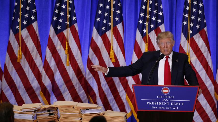 Video Tisková konference Donalda Trumpa