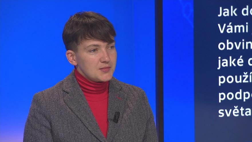 Video 90' ČT24 - Ukrajinská pilotka jako symbol odporu