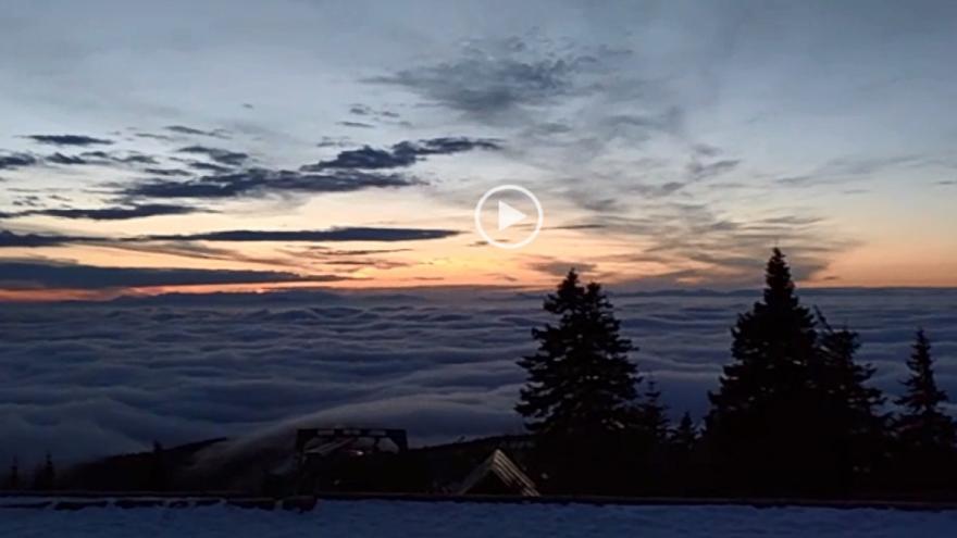 Video iReportér Jiří Nesit: Svítání na Lysé hoře
