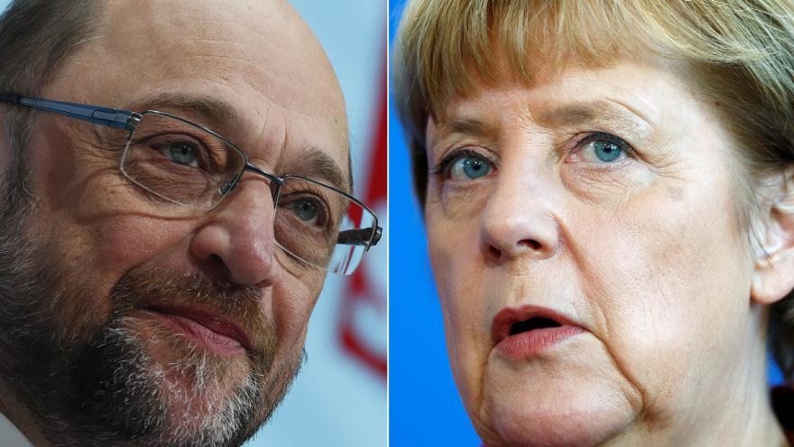 Video Německo v očekávání debaty Merkelové se Schulzem