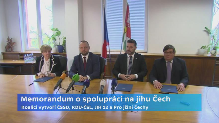 Video Memorandum o spolupráci na jihu Čech