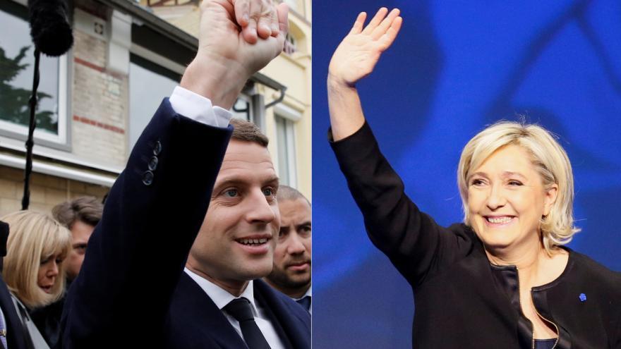 Video Podle předběžných výsledků postoupili Macron s Le Penovou
