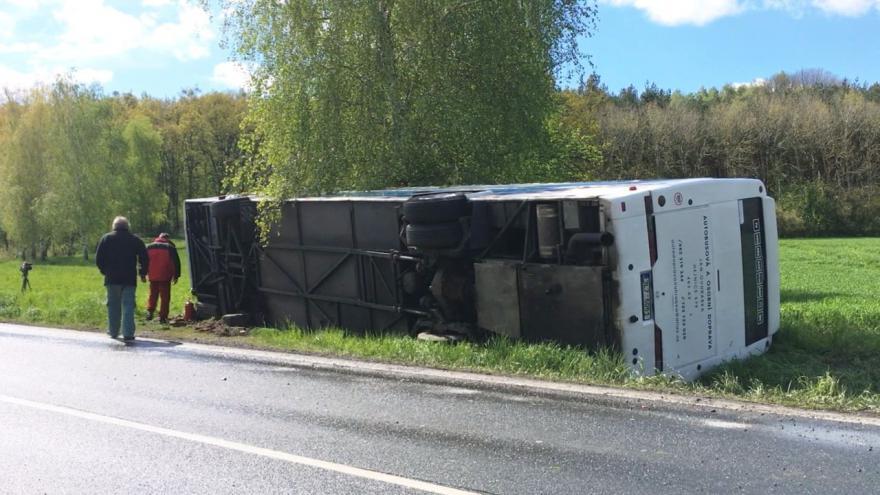 Video iReportér Štěpán Kubíček: Nehoda autobusu