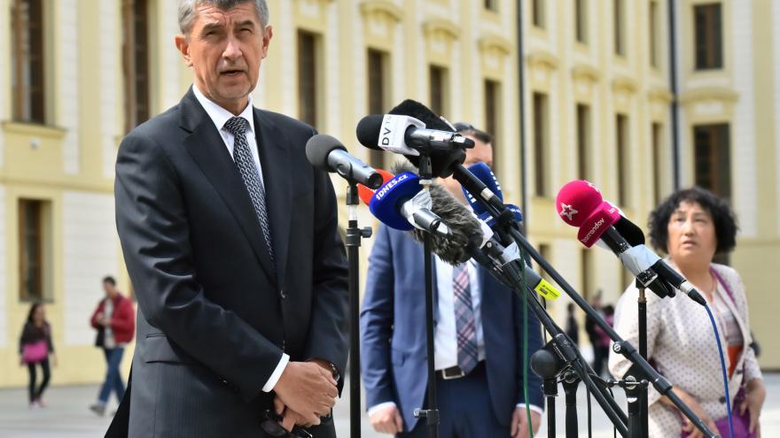 Video Andrej Babiš po schůzce s prezidentem