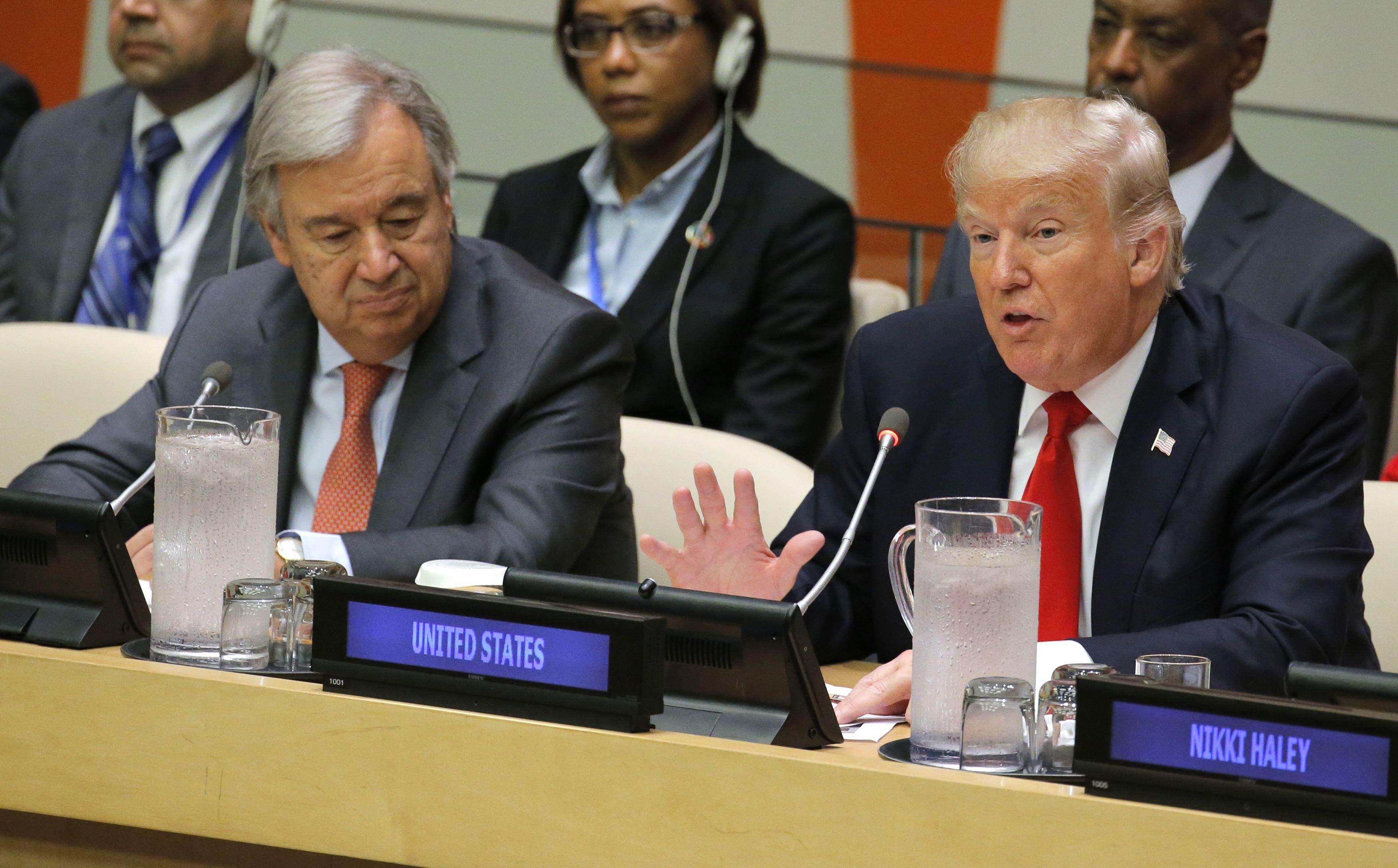 Video Americký prezident Trump na 72. zasedání Valného shromáždění OSN
