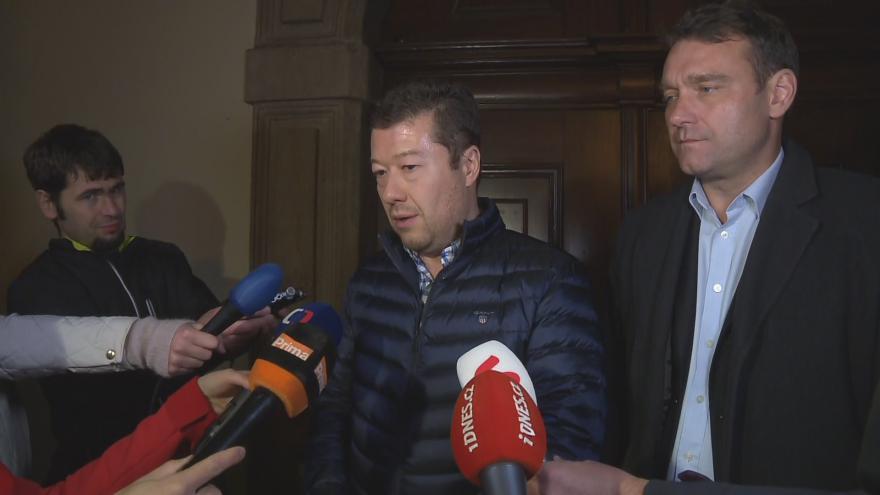 Video Tisková konference po jednání SPD s ANO