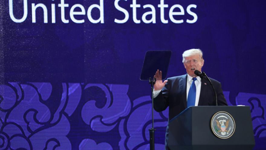 Video Sestřih projevu Donalda Trumpa na summitu APEC