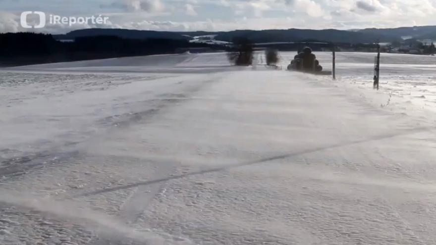 Video iReportér: Sněhové jazyky na Vysočině