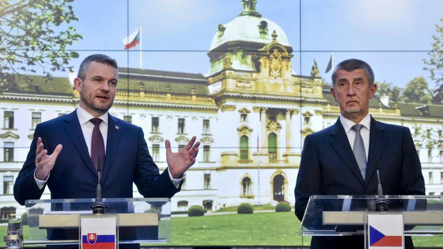 Video TK po jednání slovenského premiéra Petera Pellegriniho a Andreje Babiše