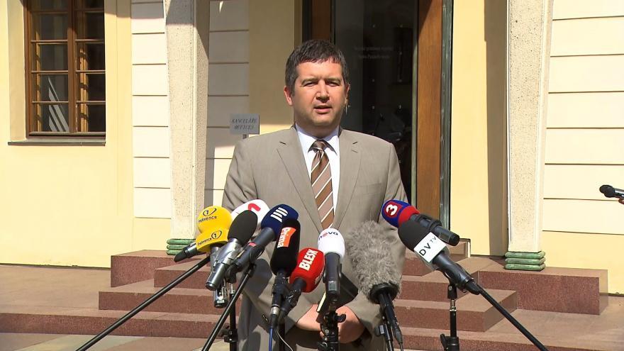 Video Předseda ČSSD Jan Hamáček po jednání s prezidentem