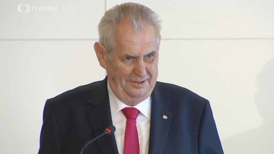 Video Prezident Zeman promluví na výstavě k vzniku Československa