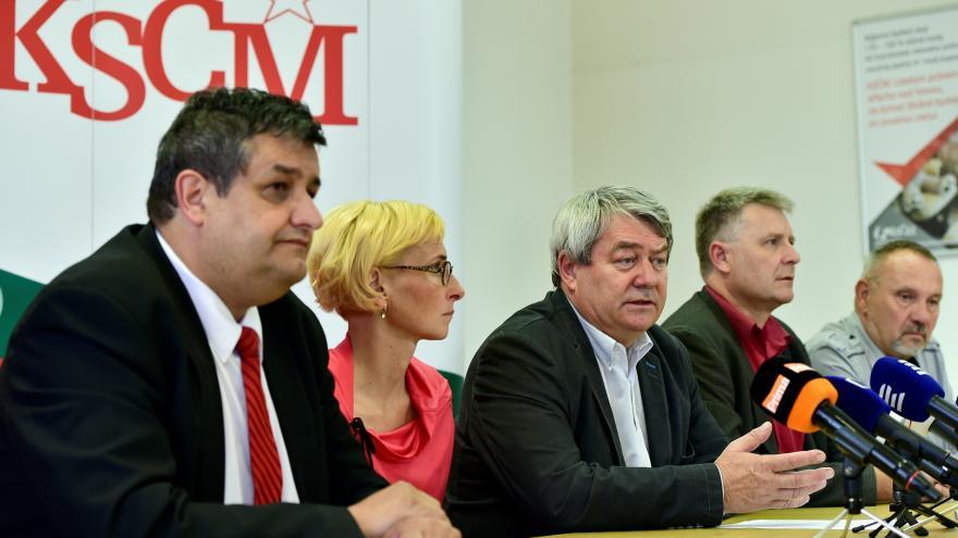Video Tisková konference po jednání širšího vedení KSČM
