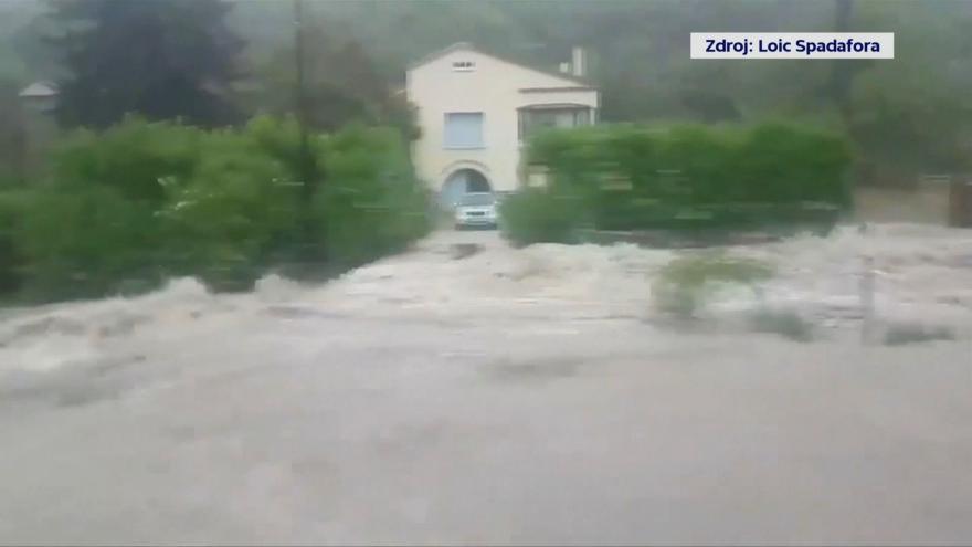 Video Bleskové záplavy na jihu Francie
