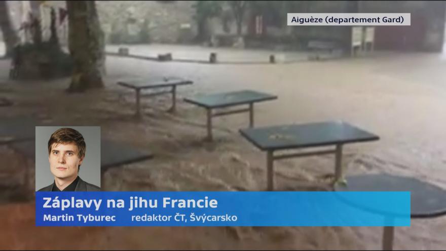 Video Redaktor ČT o náhlých povodních ve Francii: Hladina řeky se zvedla během pár hodin o několik metrů