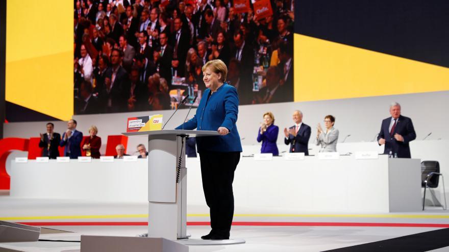 Video Projev Angely Merkelové na sjezdu CDU