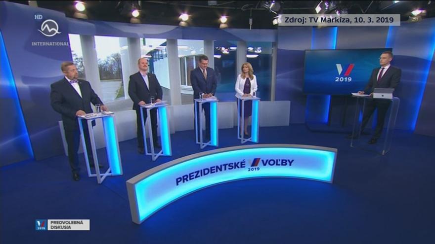 Video Sestřih první televizní debaty slovenských prezidentských kandidátů