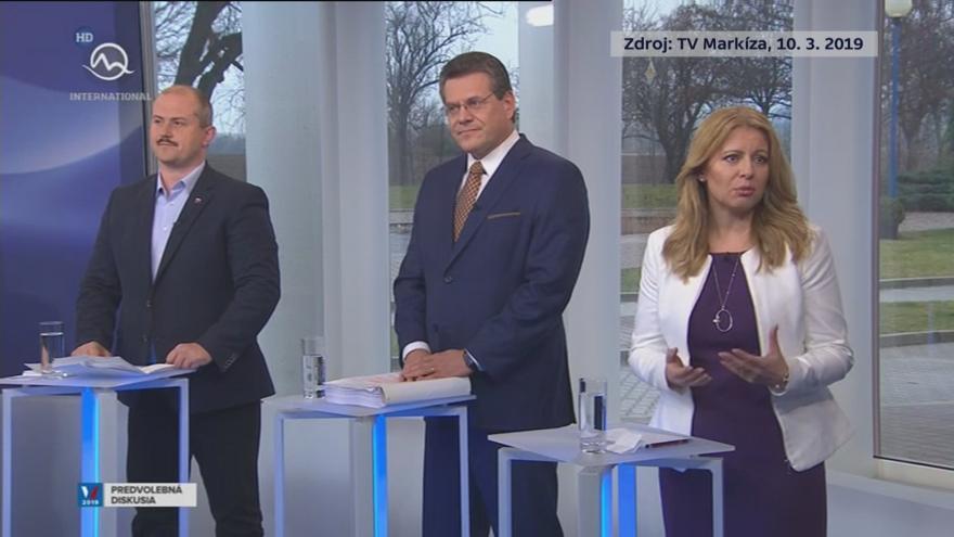 Video Zpravodaj ČT Mathé komentuje televizní prezidentskou debatu na Slovensku