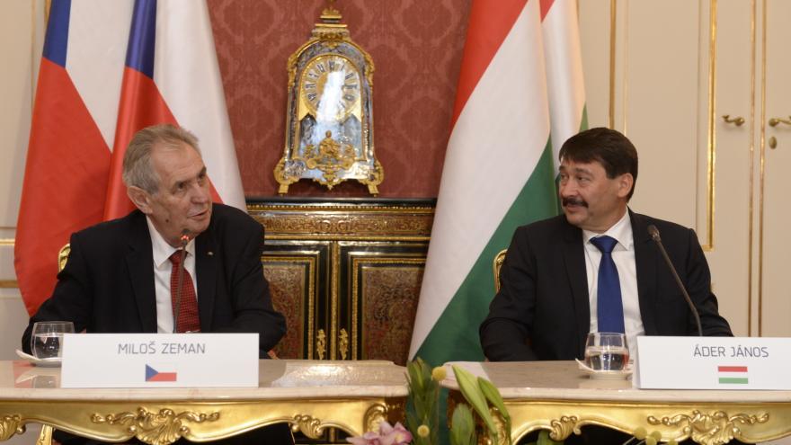 Video Tisková konference prezidentů Česka a Maďarska