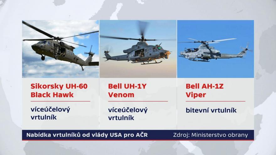 Video Události: Česko rozhoduje o nákupu vrtulníků z USA
