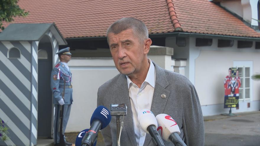 Video Brífink premiéra Babiše po jednání s prezidentem Zemanem