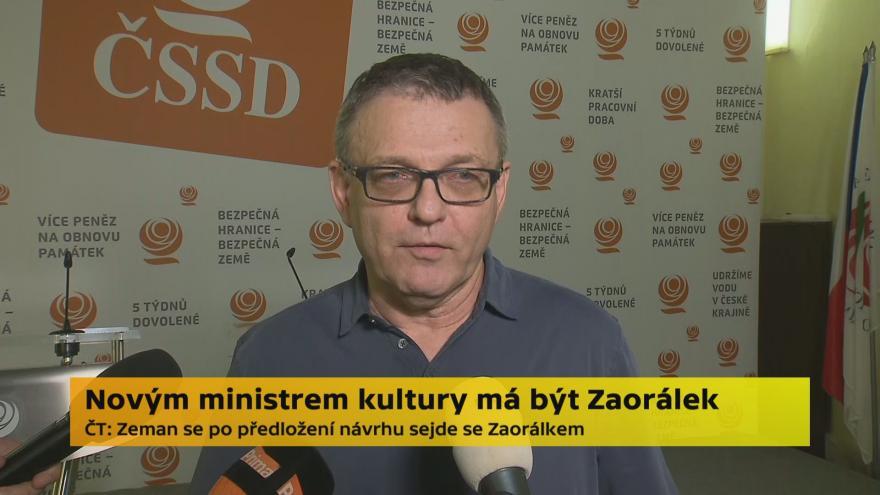 Video Lubomír Zaorálek k nominaci na ministra kultury