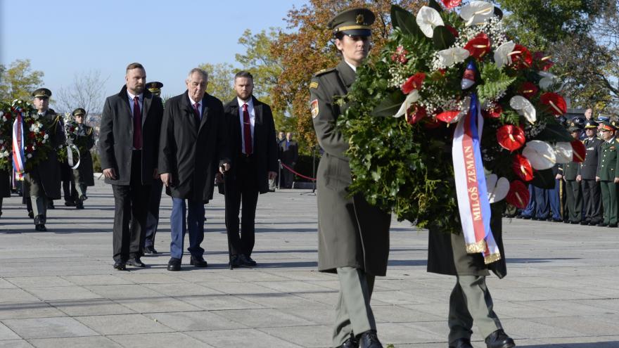 Video Pietní akt u příležitosti oslav 101. výročí vzniku samostatného československého státu