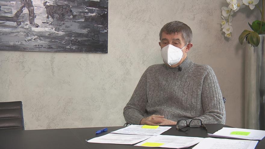 Video Andrej Babiš k registraci očkování lidí nad 60 let