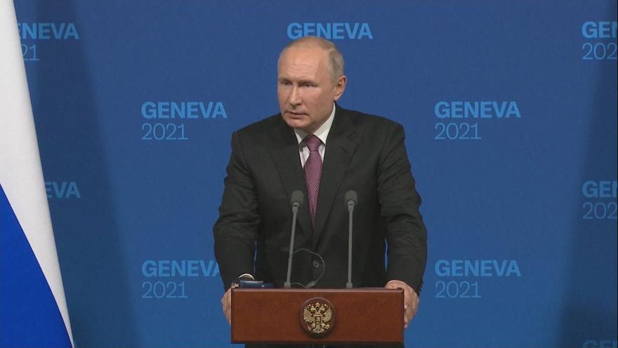 Video Brífink ruského prezidenta Putina po setkání s Bidenem